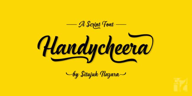 lambanner-font-Handycheera
