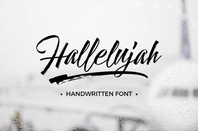 lambanner-font-Hallelujah