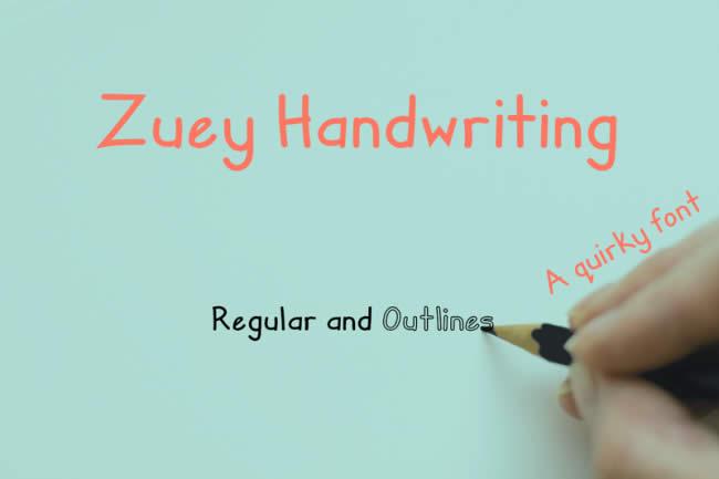 lambanner-font-Zuey Handwritting