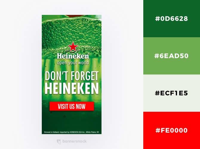 Nguyên tắc kết hợp màu sắc : Heineken