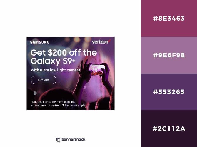 Cách phối màu trong thiết kế đồ hoạ quảng cáo : Màu tím hoa oải hương