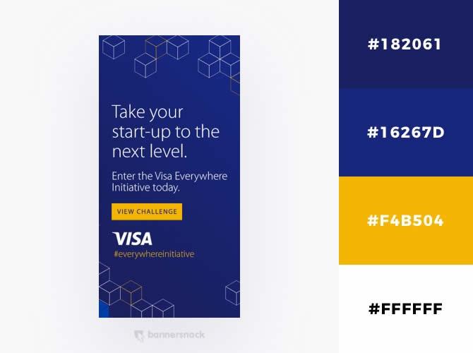 Cách phối màu trong thiết kế đồ hoạ quảng cáo : Vàng và xanh đậm