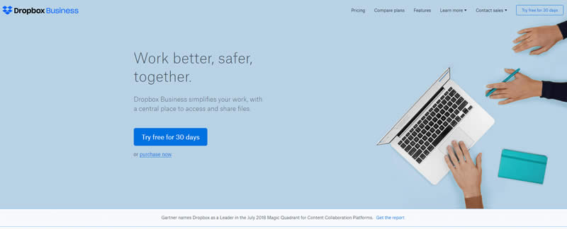Thiết kế Landing Page 2019 : Landing Page Dropbox