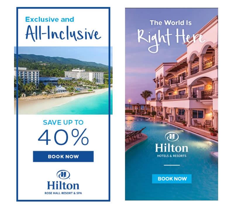 Thiết kế banner 2019 của khách sạn Hilton