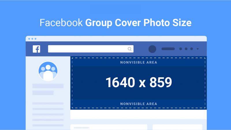 Kích thước Banner Facebook nhóm lớn nhất có thể lên đến 1.640 x 859 (px)