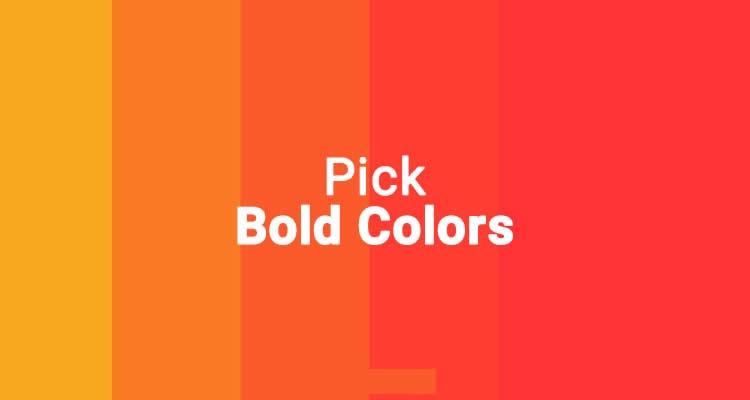 Mẹo thiết kế banner youtube : Chọn màu đậm