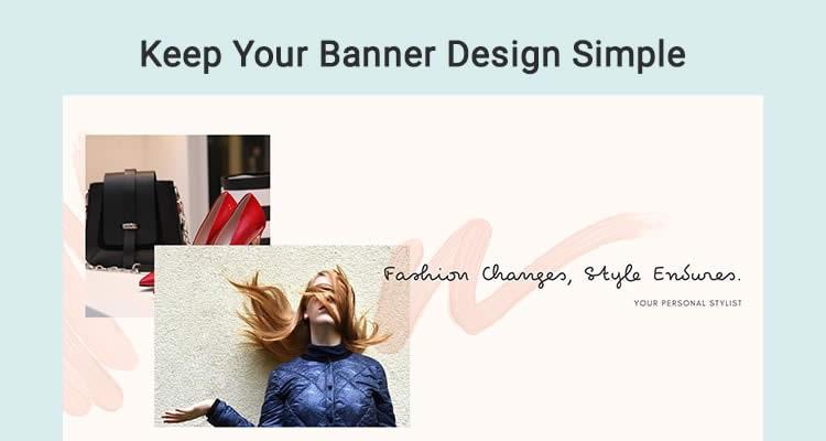 Mẹo thiết kế banner youtube : Giữ cho thiết kế đơn giản