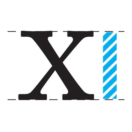 X-Height - chiều cao ký tự