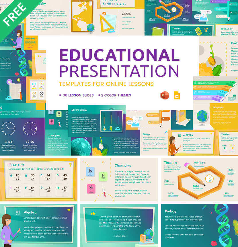 Mẫu thuyết trình miễn phí dành cho giáo viên