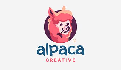 Alpaca-funny-logo