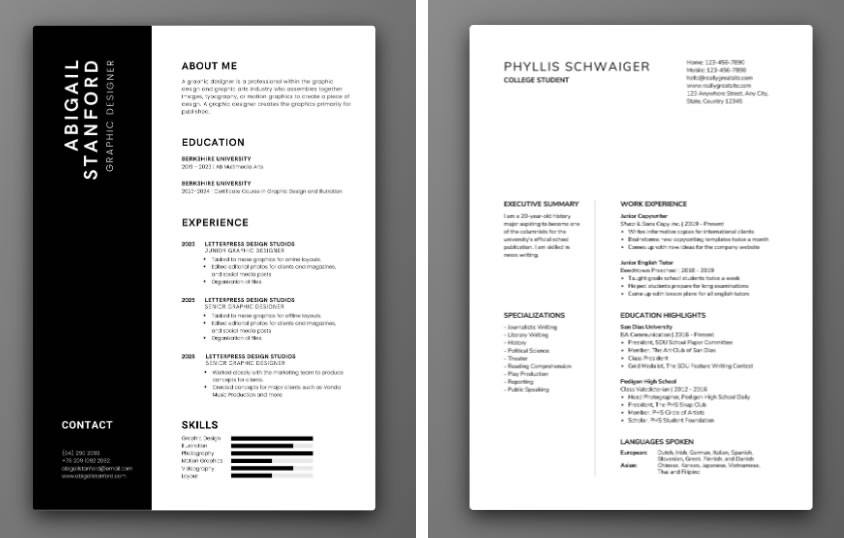 Cách thiết kế CV chuyên nghiệp cho công việc đầu tiên