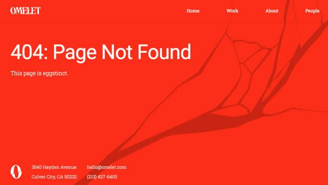 Mẫu trang báo lỗi 404 sáng tạo độc đáo