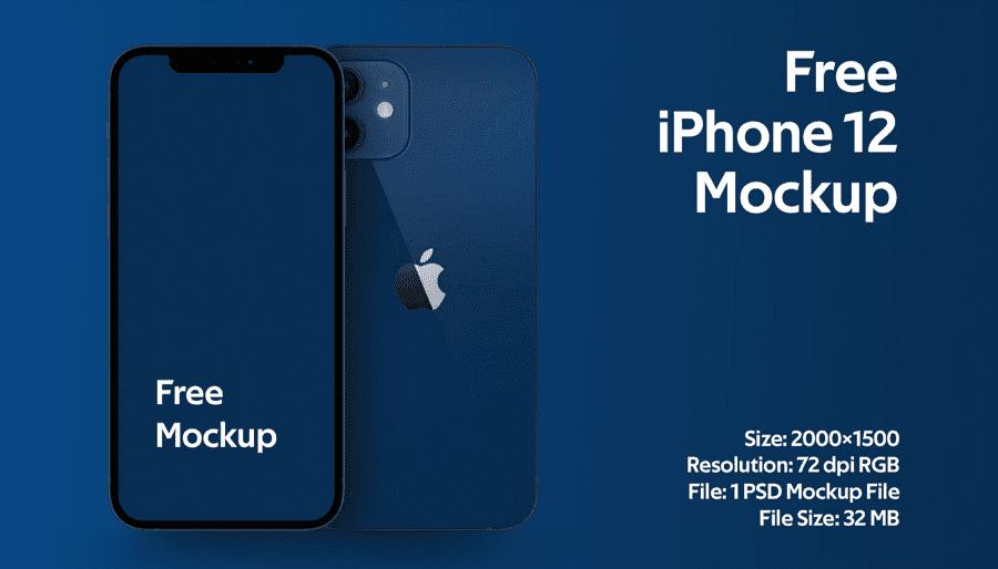 Mẫu mockup iPhone 12 miễn phí chất lượng cao